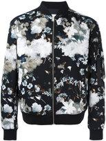 MSGM floral print bomber jacket - men - Cotton - 50