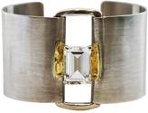"Joan Hornig Empower"" White Topaz Cuff Bracelet"