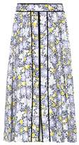 Carolina Herrera Floral-printed stretch-cotton skirt