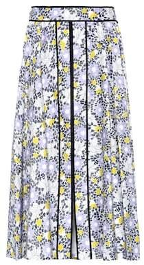 Carolina Herrera Floral-printed stretch-cotton skirt