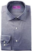 Lorenzo Uomo Pinpoint Trim Fit Dress Shirt