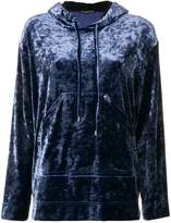 Plein Sud Jeans high shine hooded sweater
