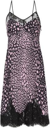 McQ Lace-trimmed Leopard-print Crepe De Chine Slip Dress