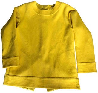 Adam Lippes Yellow Cashmere Top for Women