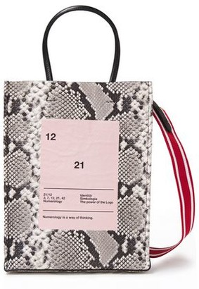 N°21 N21 Small Printed Snake-effect Leather Tote