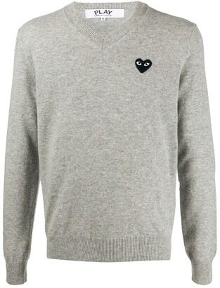 Comme des Garcons Logo-Applique Sweater