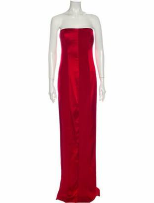 Diane von Furstenberg Silk Long Dress Red