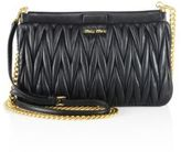 Miu Miu Matelasse Leather Chain Crossbody Bag