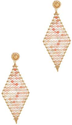 Soru Jewellery Sophia 24kt Gold Plated And Pink Opal Earrings