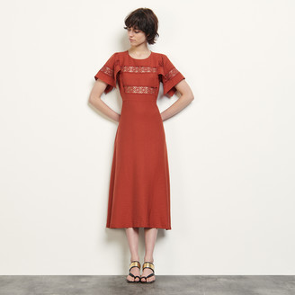 Sandro Dress with lace embellishment