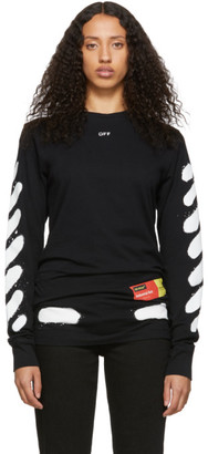 Off-White SSENSE Exclusive Black Diag Spray Paint T-Shirt