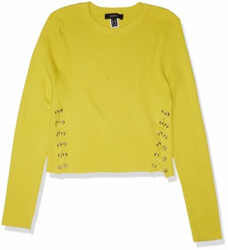 Forever 21 Women's Plus Size Lace-Up Sweater