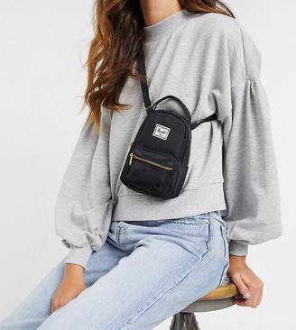 Herschel Nova crossbody mini backpack in black