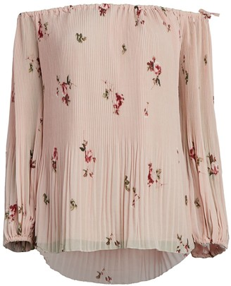 Catherine Malandrino Off-The-Shoulder Floral Top
