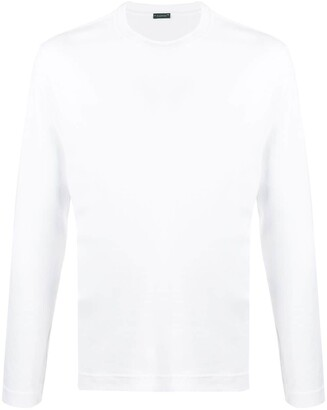 Zanone long-sleeve fitted top