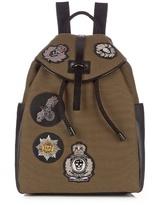 Alexander Mcqueen Badge-appliqué Canvas Backpack