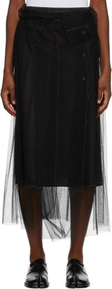 Maison Margiela Black Tulle Skirt