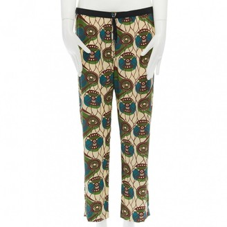 Marni Multicolour Silk Trousers