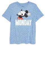 JEM Boy's Mickey Mouse Monday Graphic T-Shirt