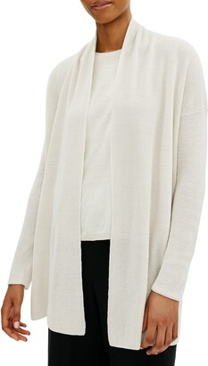 Eileen Fisher Shawl Collar Organic Cotton Cardigan