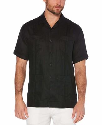 Cubavera Big & Tall 100% Linen Short Sleeve 4 Pocket Guayabera