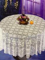 Home Fashion Designs Crochet Look Vinyl Tablecloth Ideal for Parties and Religious Events