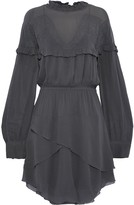 IRO Paradiz Layered Broderie Anglaise Georgette Mini Dress