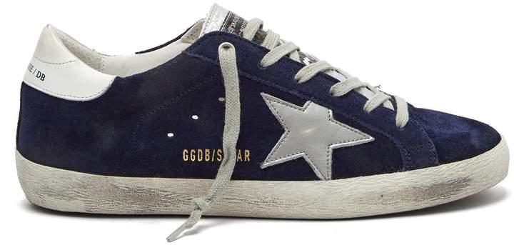 Golden Goose Superstar suede low-top trainers