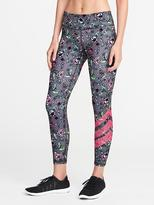Old Navy Mid-Rise Floral 7/8-Length Compression Leggings for Women