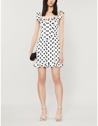 Lavish Alice Polka dot-print stretch-woven mini dress