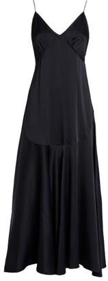 KHAITE Rini Satin Midi Dress
