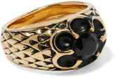 Saint Laurent Burnished Gold-plated Crystal Ring - one size