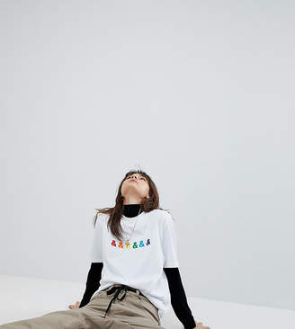 Asos Design DESIGN x glaad& relaxed t-shirt with embroidery