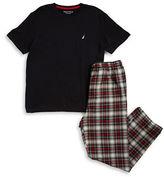 Nautica Crewneck Tee and Pajama Pants Set