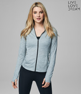 LLD Live Love Run Melange Full-Zip Top