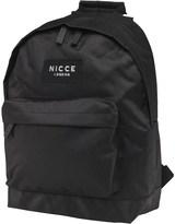 Nicce Mens Jondal Badge Backpack Black