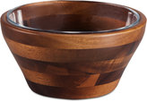 Picnic Time Heritage Collection by Fabio Viviani Small Acacia Wood Nesting Bowl