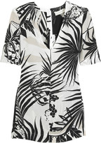 Silk tropical print top