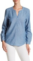 Joie Carita Long Sleeve Linen Blend Shirt