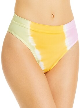 L-Space Frenchi Printed High Waist Bikini Bottoms