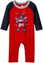 Tea Collection Robotto Graphic Romper (Baby Boys)