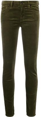 7 For All Mankind Low-Rise Velvet Skinny Trousers
