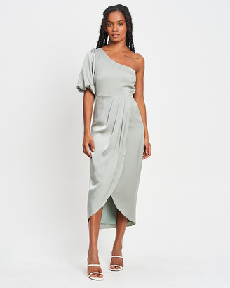 CHANCERY - Women's Green Bridesmaid Dresses - Glory Midi Dress - Size One Size, 8 at The Iconic