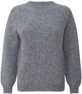 H.Huna Brushed Wool Long Sleeved Light Grey Sweater Jumper