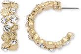JCPenney MONET JEWELRY Monet Gold-Tone & Glass C-Hoop Earrings