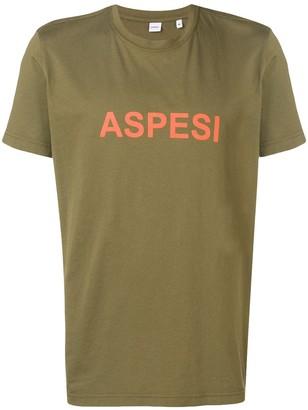 Aspesi logo print crew neck T-shirt