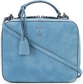 Mark Cross zip around crossbody bag - women - Suede - One Size