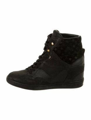 Louis Vuitton Cliff Top Wedge Sneakers Black