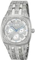 Bulova Men's 96C002 Swarovski Crystal Stainless Steel Watch