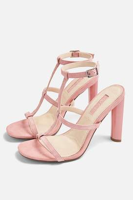 Topshop WIDE FIT RIVER Strappy Block Heels